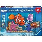 Ravensburger 07556 - Disney Finding Nemo, der kleine Ausreißer - 2 x 12 Teile Puzzle
