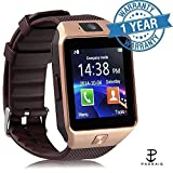 #3: Padraig Bluetooth Smart Watch Phone With Camera and Sim Card Support With Apps like Facebook and WhatsApp Touch Screen multilanguage Android/IOS mobile Phone Wrist Watch Phone with activity trackers and fitness band features & compitable with redmi note 4