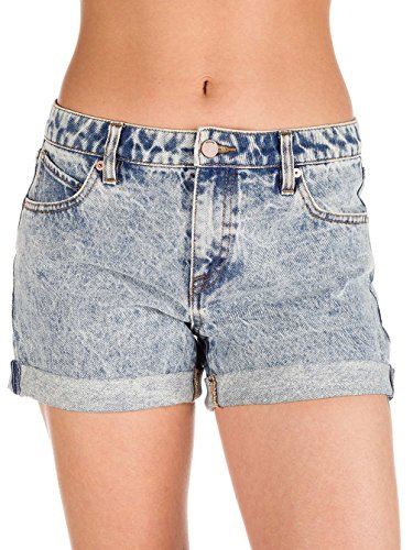 Volcom–Hot Pants Volcom Stoned Short Rolled Blu Hot Pants Da Donna, Donna, Volcom Stoned Short Rolled Blau Hot-Pants Damen Nuvola blu