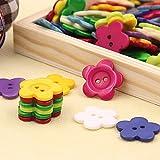 YOKIRIN® für Kinder DIY Kinderknöpfe Knopf Scrapbooking Mischung aus 100 Knöpfen klein durchsichtig-23mm