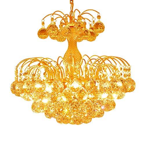 SXFYWYM Crystal Chandelier Modern Mini Style Ceiling Light Flush Mount Chrome Finish Pendant Light Fixture for Living Room Bedroom Lighting,Gold,450x400mm - Crystal Ceiling Mount