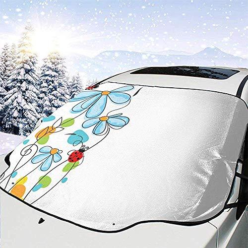 Ängstlich und wunderbar Blumen und ovale Universal-Fahrzeugfrontscheibe Visier-Schutz-Hitze-Schnee-Schutz-Schutz Halten Sie Ihr Auto kühl Alle Seaon Gebrauch -