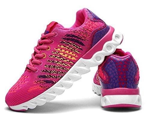 Treinador De Desportivos Ginásio Mulheres Esportes Sapatos Vai Malha Newzcers Rosa Tênis CtxpnRAq