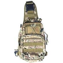 Tailcas® Outdoor Sport Tattico Military Army Zaino Backpack in Nylon Tracolla Messenger Satchel Zaino Da Viaggio Adatto per la Corsa di Campeggio Escursioni Trekking (CP Camo)