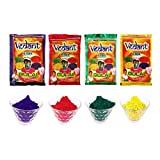 #9: VG Toys & Novelties Vedant Herbal Gulal Holi Color Powder Pack of 4  (100g Each)