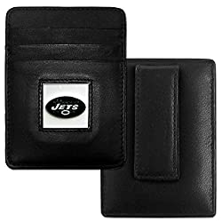 New York Giants Leather Money Clip/Cardholder