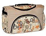 TP-52 Wickeltasche Shopper Reisetasche PIA von Baby-Joy XXXL Übergröße Creme Orange Comic Windeltasche Pflegetasche Babytasche Tragetasche