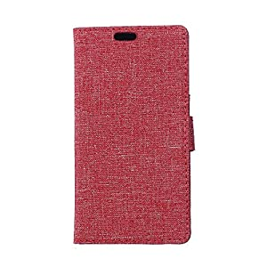 BlackBerry Leap Hülle,BlackBerry Leap Tasche,BlackBerry Leap Schutzhülle,BlackBerry Leap Hülle Case,BlackBerry Leap Leder Cover,Cozy hut [Burlap - Muster-Mappen-Kasten] echten Premium Leinwand Flip Folio Denim Abdeckungs-Fall, Slim Case mit Ständer Funkti