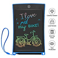 Ksera 8.5 Inch LCD Writing Tablet, Colorful Digital Ewriter with Memory Lock Electronic Writing Drawing Doodle Board, Office Home School Handwriting Pad Memo Notebook, Gift for Kids and Adults (Blue)