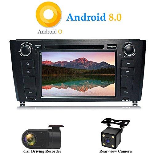 XISEDO Android 8.0 in-Dash 1 Din 8 Pouces Autoradio Voiture Radio à Écran Tactile 8-Core RAM 4G ROM 32G Car Radio GPS pour BMW 1 Series-E81/E82/E88 2004-2010 (avec Caméra de Recul et DVR)