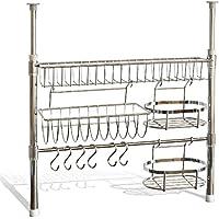 bremermann® Panel para utensilios de cocina, telescópico, con ruedas