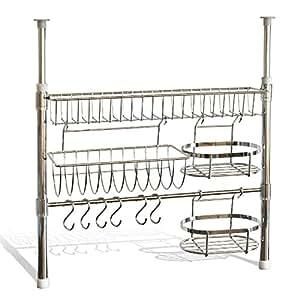 bremermann tag re de cuisine t lescopique y compris porte rouleau panier de rangement. Black Bedroom Furniture Sets. Home Design Ideas