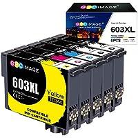 GPC Image 603 XL Tinta Compatible para Epson 603XL Cartuchos de Tinta para Epson Expression Home XP-3100 XP-4100 XP-2100 XP-2105 XP-3105 XP-4105 Workforce WF-2810 WF-2830 WF-2835 WF-2850 (5-Pack)