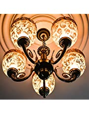 Prop It up SFL Royal Metal and Glass Chandelier - (Golden Work with Antique)