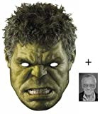 The Hulk Marvel Avengers Age of Ultron Single Karte Partei Gesichtsmasken (Maske) Enthält 6X4 (15X10Cm) starfoto