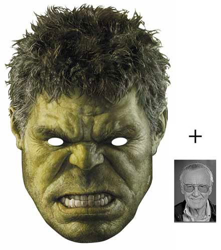 The Hulk Marvel Avengers Age of Ultron Single Karte Partei Gesichtsmasken (Maske) Enthält 6X4 (15X10Cm) ()