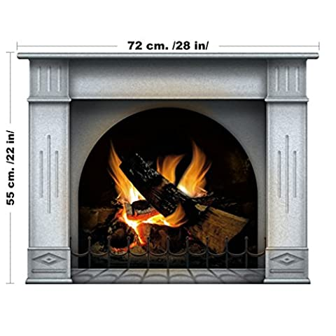 Multicolor Fireplace vinyl sticker, wallpaper decoration,Wall Stickers Graphics Vinyl