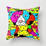 Loveloveu Dogs Pillowcover 18 X 18 Inches / 45 By 45 Cm Gift Or Decor For Coffee House,club,saloon,chair,sofa,kids Room