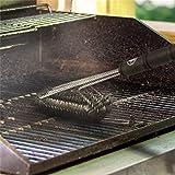 2 pezzi di pennello per barbecue Migliore pulitore per griglia Adatto per tutte le griglie Resistente ed efficace setole in acciaio inossidabile e maniglie rigide Adatto per gli amanti del barbecue