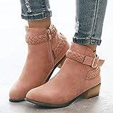 Posional Botines Mujer Planos Sandalias Tacon 3.8Cm Zapatos Mocasines Transpirable Chelsea Boots CuñA Moda Caqui Botas A Media Pierna Para Mujer De Combate Tobillo Con Zapatos TacóN Bajo Tachonado