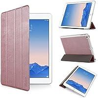 iHarbort® iPad Air Hülle - Premium PU Leder Tasche Hülle Etui Schutzhülle Ständer Smart Cover für iPad Air , mit Schlaf / Wach-up-Funktion,Roségold