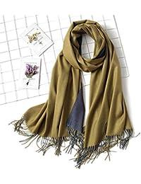 HITSAN INCORPORATION Hirigin 18 Colors est Women Lady Cashmere Silk Solid  Long Pashmina Shawl Wrap Scarf c275553a083