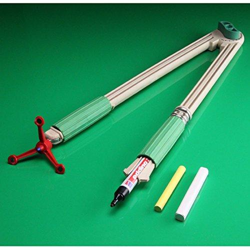 FTM® RE-Wood® Tafelzirkel mit Magnet, großer Zirkel für Tafel und Whiteboard mit Stifthalter, als Schulbedarf und Lehrmittel