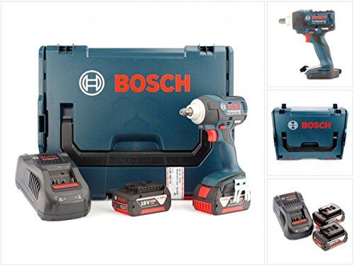 Preisvergleich Produktbild Bosch GDS 18 V-EC 250 Professional Akku Drehschlagschrauber + 2 x GBA 18 V 5 Ah Akku + GAL 1880 CV Schnellladegerät in L-Boxx