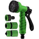 Orpio 7 Function High Pressure Car/Bike/Gardening Wash Nozzle Water Gun Spray (Green)