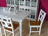 Edlewelt Esstisch Antique Tisch Küchentisch Landhaustil 200x100cm weiß