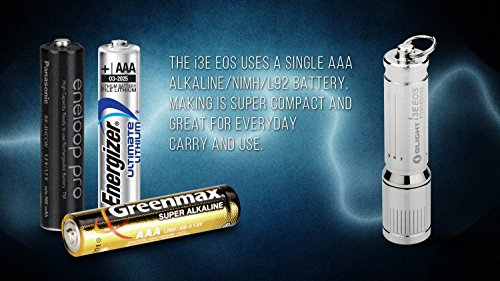 Olight® I3E EOS Mini LED Taschenlampe mit Schlüsselanhänger - Silber