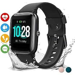 Vigorun Smartwatch Orologio Fitness Impermeabile IP68 Uomo Donna Fitness Tracker Schermo Tattile 10 Giorni Durata Cardiofrequenzimetro da Polso Contapassi Activity Tracker for iPhone Huawei Samsung