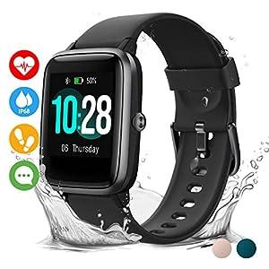 Vigorun Smartwatch Reloj Inteligente Hombre Mujer Niños Impermeable IP68 10 Días Autonomía Pulsera Actividad con Pulsómetro Podómetro Control de Música Monitor de Sueño Smartwatch para Android iOS 3