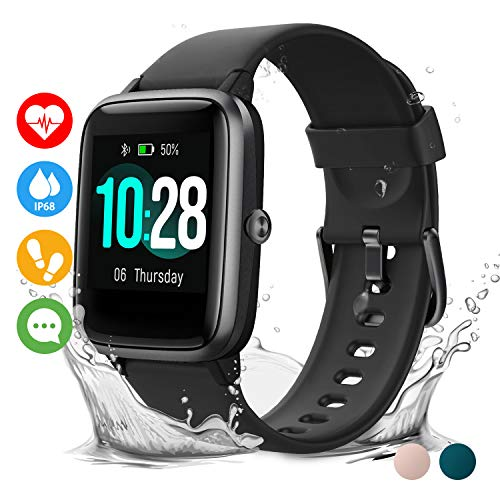 Vigorun Smartwatch Orologio Fitness Impermeabile IP68 Uomo Donna Fitness Tracker Schermo Tattile 10 Giorni Durata Cardiofrequenzimetro da Polso Contapassi Activity Tracker for iPhone Huawei Samsu