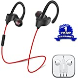 Moblios Oppo F1s Compatible QC-10 Wireless Sports Bluetooth Headset With Mic | QC-10 Sweatproof Earbuds, Best For Running,Gym || Noise Cancellation || Stereo Sound Quality || Compatible With All Android/Ios Smartphone- Assorted Color(free Handfree)