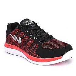 Campus MenS Black Mesh Running Shoes (10)