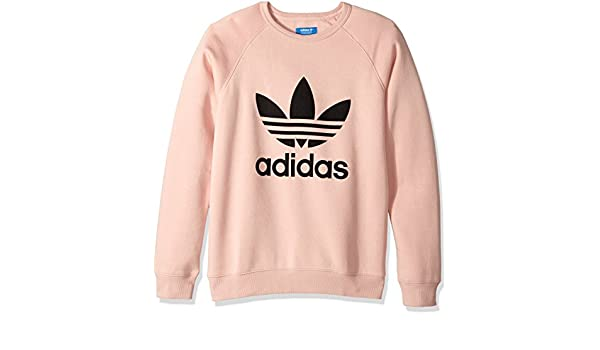 5f21398f4207 adidas Originals Men's Outerwear Trefoil Crew Sweatshirt, Vapour Pink,  Large: Amazon.co.uk: Clothing