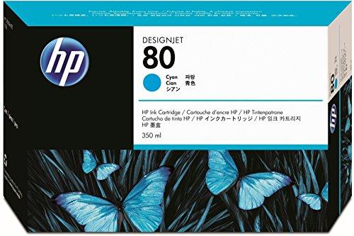 Hewlett Packard HP 80 Cyan 350ml Inkjet Cartridge lowest price