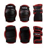 Kinder Rollerskates/inliner/Inliner-skates/BMX Skateboard Schützer Protektoren für Knie Ellbogen Handgelenk in rot/schwarz gemischten Größe S