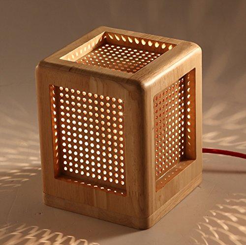 Économie d'énergie Protection des yeux - mode Minimaliste personnalité créative lampe de bureau chambre lampe de chevet Lampe en bois - (Ne pas inclure la source lumineuse)