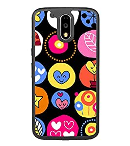 Cute Hearts Wallpaper 2D Hard Polycarbonate Designer Back Case Cover for Motorola Moto G4 Plus :: Moto G4+