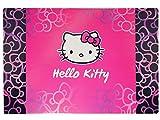 Schreibtischunterlage Katze Hello Kitty 60 cm * 40 cm - PVC Unterlage / Knetunterlage / Schreibunterlage / Tischunterlage Kätzchen für Kinder Mädchen pink