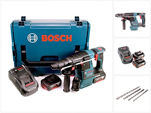 Preisvergleich Produktbild Bosch GBH 18 V-26 F Akku Bohrhammer Professional SDS-Plus in L-Boxx + 2x GBA 6 Ah Akku + GAL 1880 CV Ladegerät + Bohrer Set