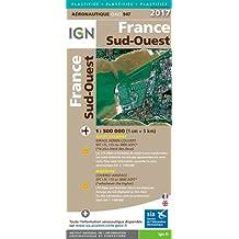 Oaci947 France Sud-Ouest Plastifiee 2017 1/500.000