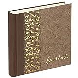 Gästebuch Flower braun - Fotobuch Gästebücher - Feier Hochzeit