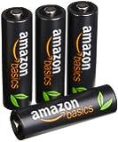 AmazonBasics Lot de 4 piles rechargeables Ni-MH Type AA 500 cycles 2500 mAh/minimum 2400 mAh