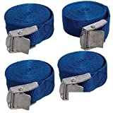 ToWorld(TM) 4 Pack New Cam Buckle Tie Down Straps 25mm x 2.5 Metres (449682)