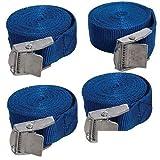 ToWorld(TM) 4 Cargo Load Lash Straps Cam Buckle Tie Down Luggage Quick Release Nylon 449682