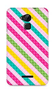 AMEZ designer printed 3d premium high quality back case cover for Coolpad Note 3 (colourful stripes pink)