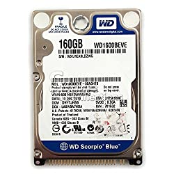 WD 160GB 5400RPM IDE /Pata WD1600BEVE 2.5 Inch Laptop Harddrive
